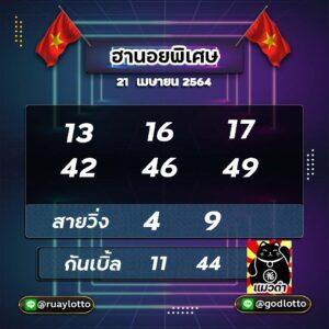 เลขเด็ดแมวดำฮานอยพิเศษ21